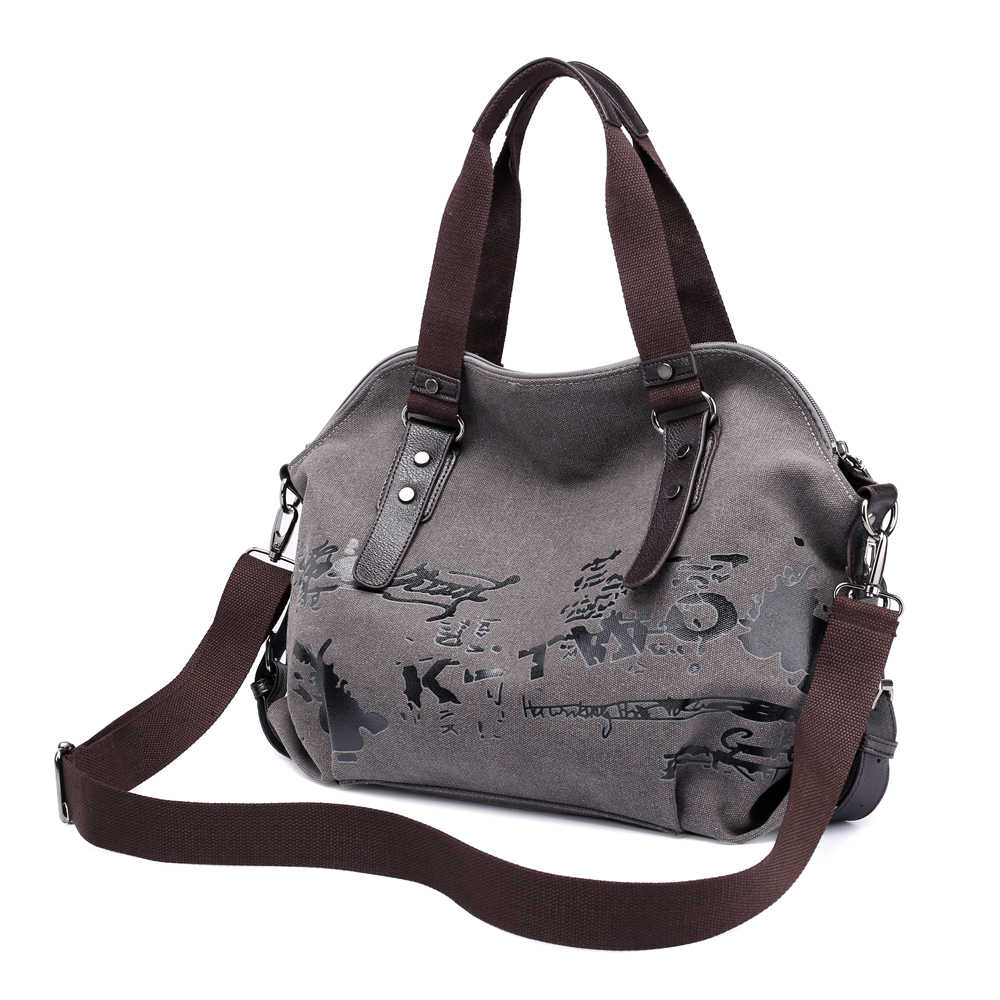 Large Women s Canvas Handbags Female Hobos Single Shoulder Bags Woman  Crossbody Pack Vintage Solid Ladies Totes 886f0d6ceb