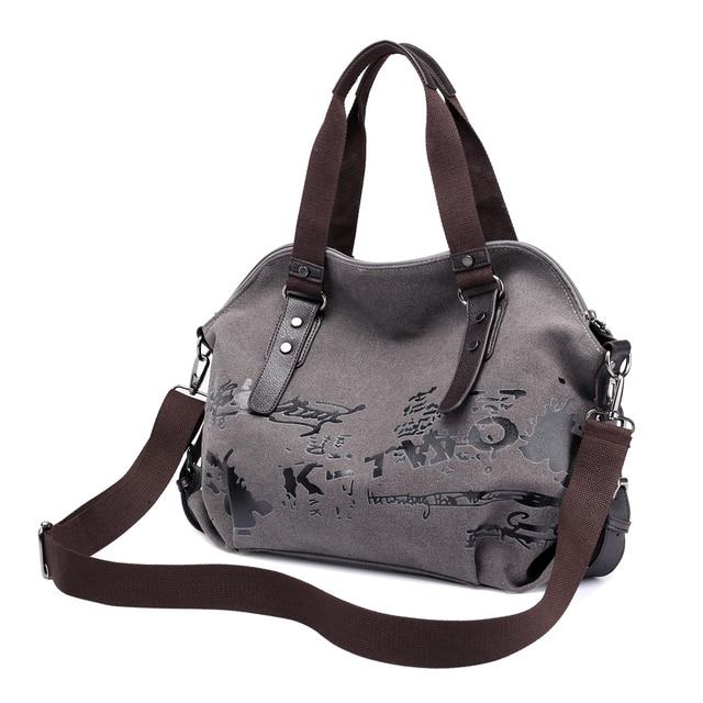 2fffaa676f Large Women s Canvas Handbags Female Hobos Single Shoulder Bags Woman  Crossbody Pack Vintage Solid Ladies Totes