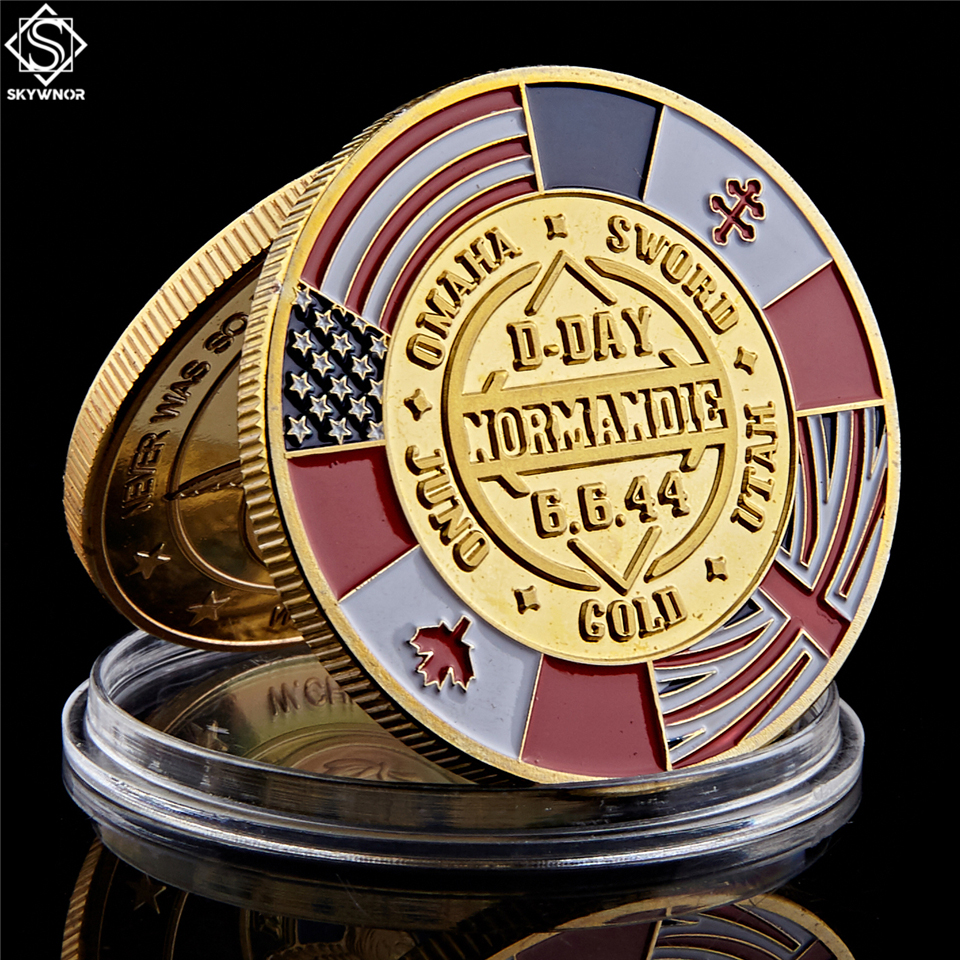 WWII 70th Anniversary Souvenir Coin Arromanches Normandie War Military Challenge Coin Collectibles