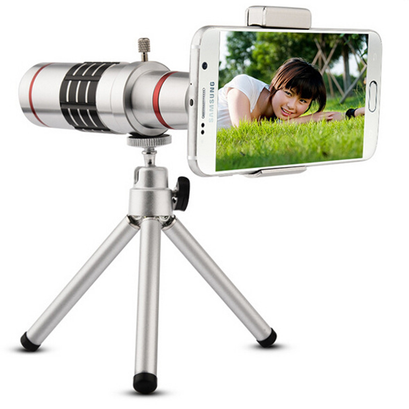 Universal Clip 18X Mobile Phone Telescope Lens Zoom Camera Practical Optical Magnifier with Tripod for Samsung