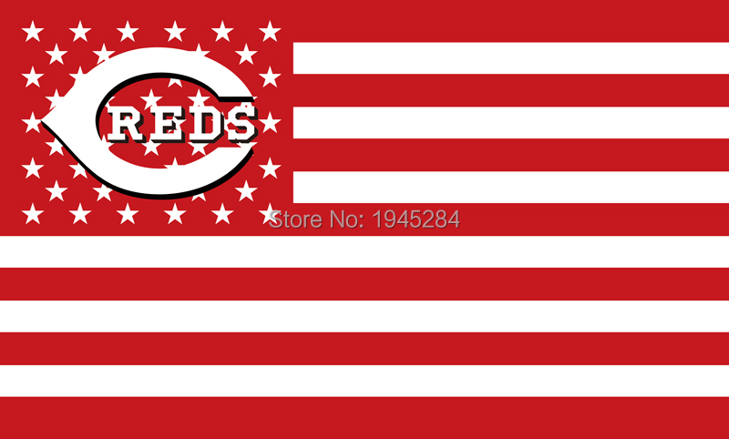 MLB Cincinnati Reds with US Stars Stripes Flag Banner New 3x5ft 90x150cm Polyester 8814, free shipping