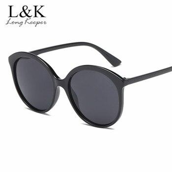 e6665c8ab3 Nuevo Oversized gafas de sol redonda mujer marca diseñador del Color del  caramelo del tamaño grande Vintage negro transparente gafas de sol mujer  gafas