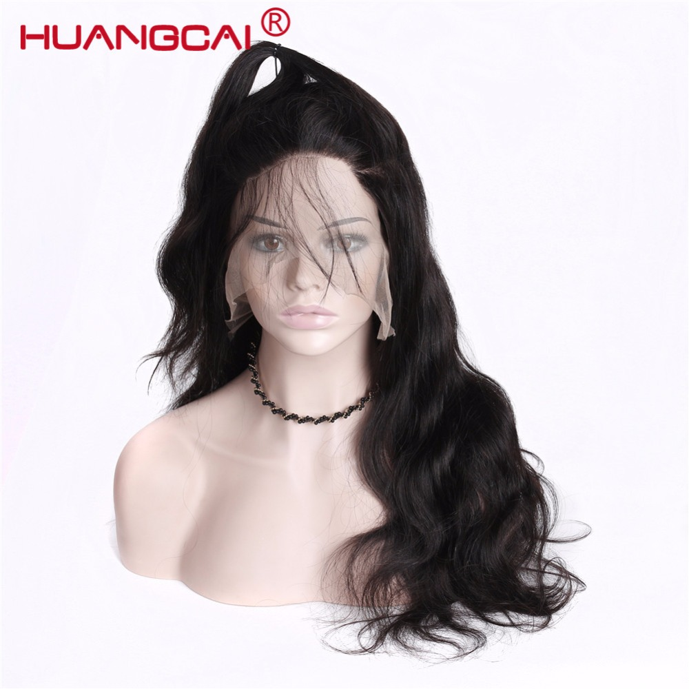 Peruvian Body Wave Glueless Full Lace Human Hair Wigs With Baby Hair 150% Density Natural Hairline Remy Hair Pre Pulcked Wigs ...
