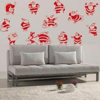 تصميم جديد عيد تخصيص الكرتون الجدار ملصق سانتا كلوز القابل للماء pvc جدار صائق عيد 21