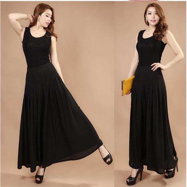 3080cfd913 2017 summer wide leg pants female bohemia wide leg pants casual trousers  skirt formal loose ol