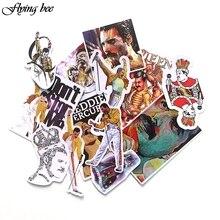 Flyingbee 13 pçs famoso cantor rock adesivo graffiti rock adesivos para o miúdo diy computador portátil bagagem telefone do carro adesivo à prova dxágua x0001