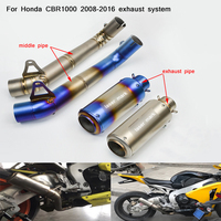 2008 2009 2010 2011 2013 2014 2015 2016 for Honda CBR1000RR Motorcycle Middle Connecting Pipe With Exhaust Muffler Pipe System