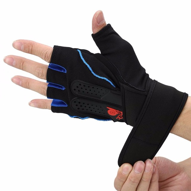 Tactical Sports Fitness Weight Lifting Gym Gloves Training Bodybuilding Workout Wrist Wrap Exercise Glove For
