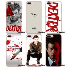 For iPhone X 4 4S 5 5S 5C SE 6 6S 7 8 Plus Samsung Galaxy J1 J3 J5 J7 A3 A5 2016 2017 Dexter Morgan blood cross art Poster Cases(China)