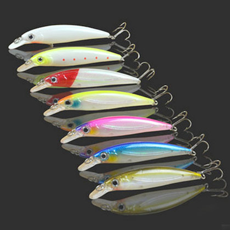 Lot 4 Pieces Sale Night Fishing Lures Minnow 14g 11cm Artificial Eagle Claw Hook Moonlight Hard Baits fishing tackle in Fishing Lures from Sports Entertainment