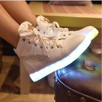 New Style Luminous Shoes 8 Colors LED Shoes For Adults 2017 Spring Autumn Men Fashion High