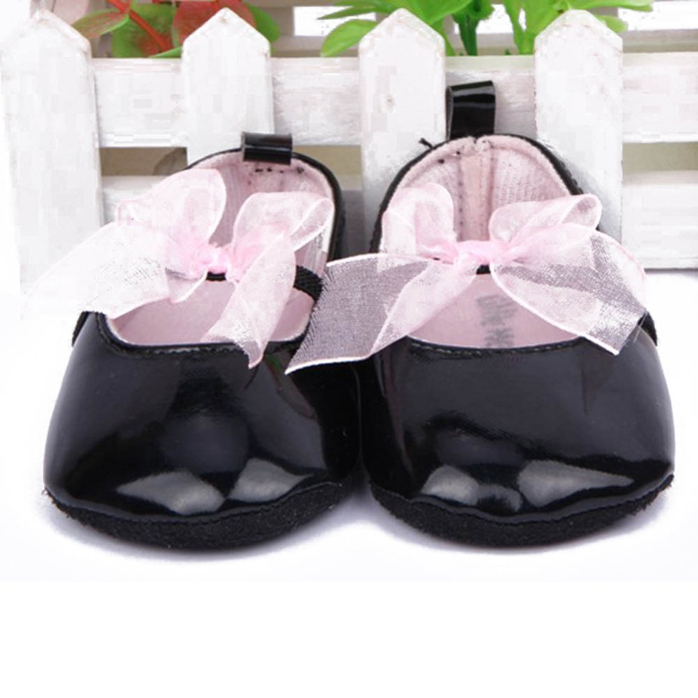 Baby Girls Shoes Noble Bow Princess Todder First Walkers Shoes Infant Prewalker Flower Soft Sole Shoes
