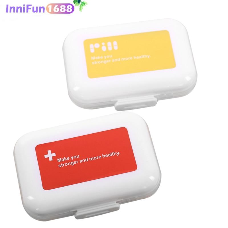 Pill Cutter Portabe Multilayer Pills Organizer Box 8 Compartment Storage Case Moistureproof Holder Medicine
