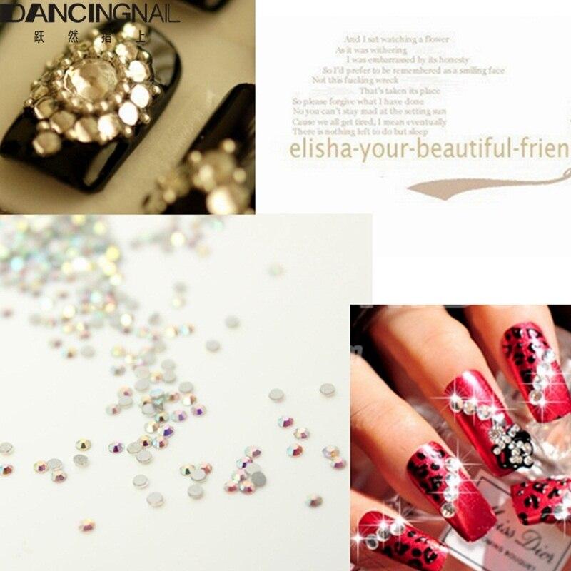 1440Pcs/Pack 1.3-1.5MM Nail Art Rhinestone Clear Color Nails ...