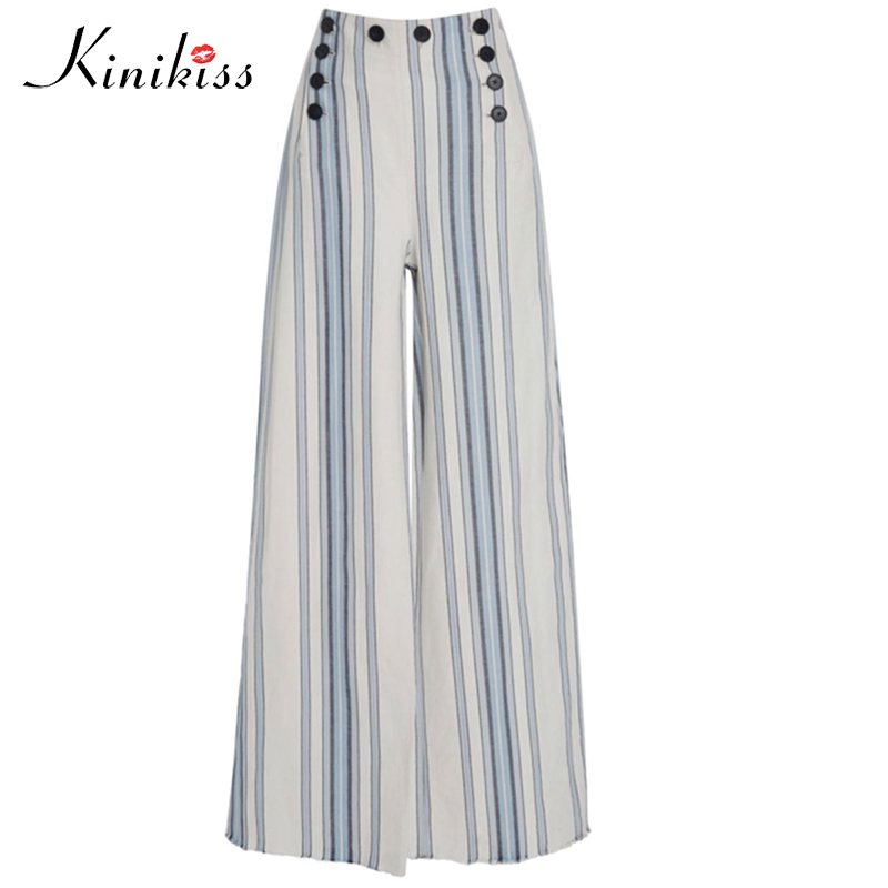 Summer Autumn Fashion High Waist Wide Leg Pants Female Plus Size pants Loose Casual Pants Trouser For Women