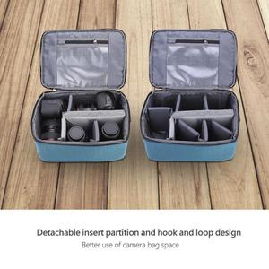 Image 3 - Bolsa tipo bandolera para cámara DSLR a prueba de agua bolsa de lente de cámara de inserción acolchada portátil bolsos dslr Handle bolsa de lente de cámara Case Pouch