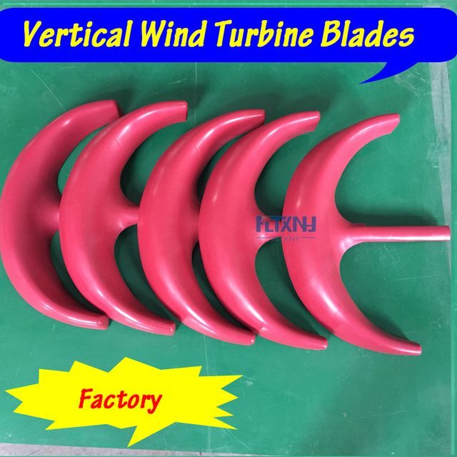 Wind Turbine Generator Blades Red White Color Nylon Blade Glass
