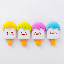 1 PCs Creative Cartoon Fountain Ice Cream Eraser Eraser Students Study Supplies Wholesale(China)
