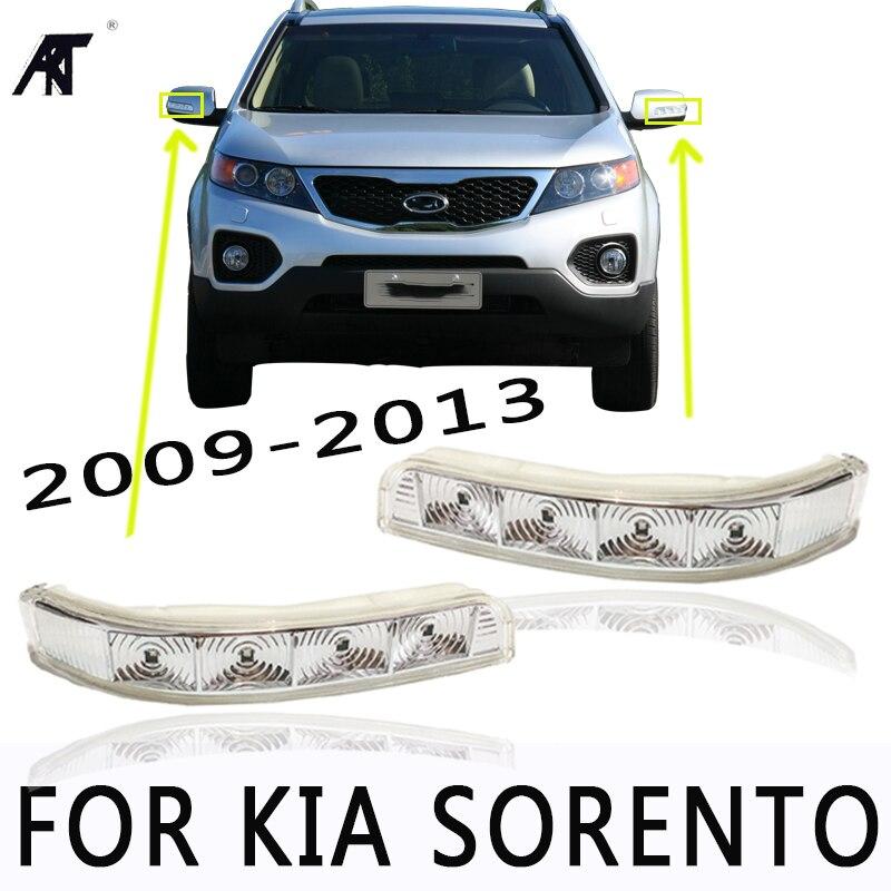 Lato Specchio LED indicatori di direzione della lampada della luce lampeggiatore OEM #87623 2P000/87613 2P000 Per KIA Sorento 2009- 2014