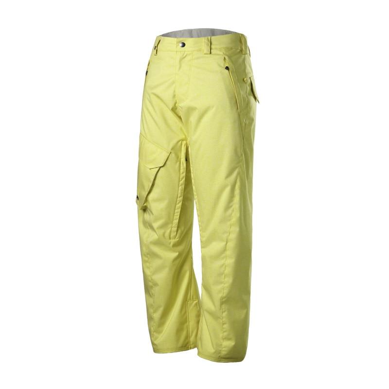 GSOU neige hiver chaleur extérieure imperméable pantalon de Ski homme simple Double planche pantalon de neige taille XS-XL
