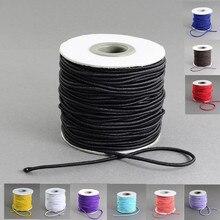 40 m/roll 2mm Ronda de bricolaje cuerda de Nylon Exterior y el cable De Goma Interior Elástico Cords rollo de cuerda de rosca para La Fabricación de Joyas accesorios