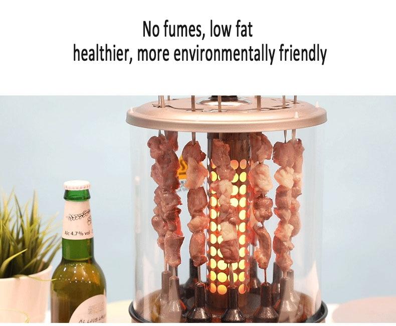 Totalmente automático máquina de churrasco grill uso
