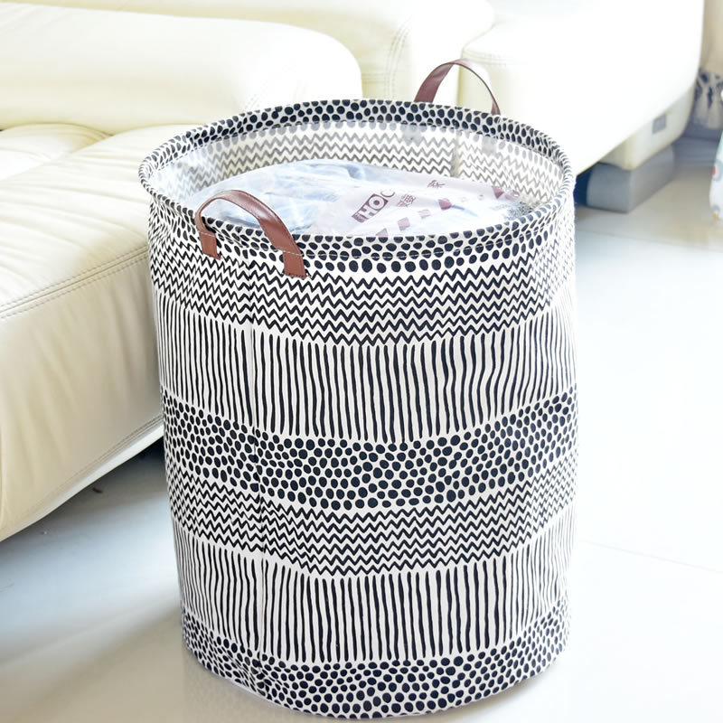 40*50cm Hot Sale Waterproof Laundry Basket Storage Basket Cotton Linen Washing Clothes Toy Bra Sock Folding Storage Box