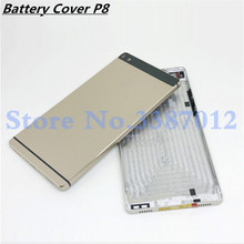 Original Aluminum Rear Housing Battery Cover For Huawei Ascend P8 GRA L09 Back Door Replcement Battery Case With Side Button