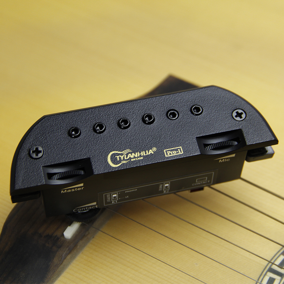 TYLANH skysonic PRO 1 endpin jack Shock adsorbing foam lines the inside edges of both mounting brackets guitar pick holder