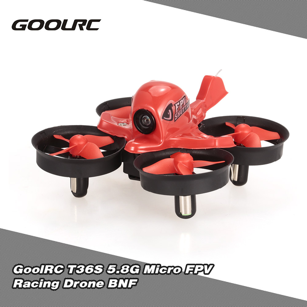 GoolRC T36S 5.8G 48CH Micro FPV Racing Drone 800TVL Camera RC Quadcopter BNF with FrSky Receiver F3 Flight Control
