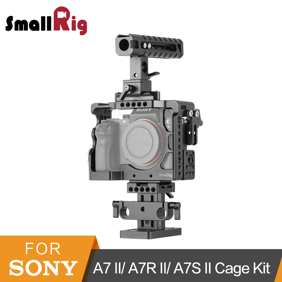 SmallRig Camera Accessory Kit for Sony A7 II/ A7R II/ A7S II Cage With Nato Rail+Nato Handle+Quick Release System -2015