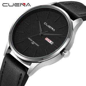 CUENA Watch Men Leather Watch