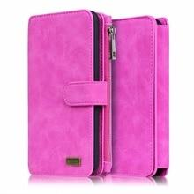 Megshi 2 в 1 секунду кожаный бумажник чехол для Samsung S7 S7 Edge чехол на молнии многофункциональный чехол леди Для женщин Стиль сумочка-Чехол