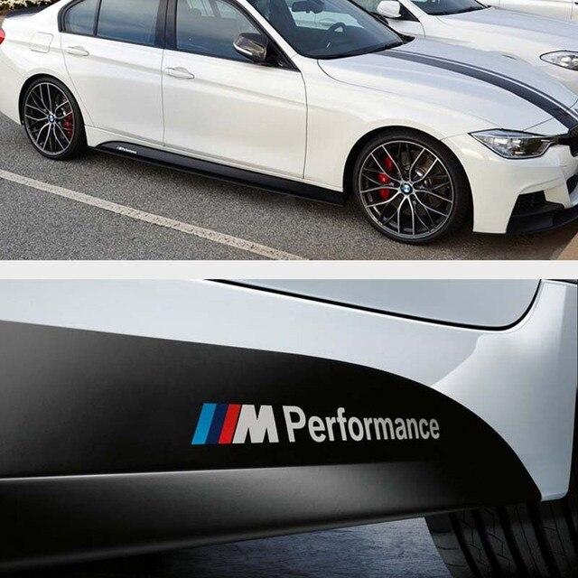 Automobile stickers m power logo 3m wrap vinyl car window sticker m performance car side sticker