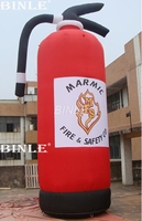 Customized size safety escape red giant inflatable fire extinguisher model with logo printing for promotion