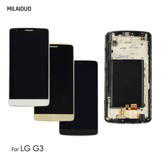 Original LCD Display For LG G3 D850 D851 D855 Touch Screen Digitizer With Frame Replacement Assembly 100% Tested 5.5""