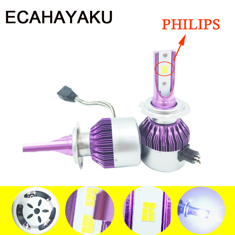 CSP Chips 6000K White H7 Car Headlight Bulb Kits Automobile H4 H1 H3 9005 9006 H11 Led Headlights 72W 7600lm Xenon Replace Kits 12v led light auto headlamp h1 h3 h7 9005 9004 9007 h4 h15 car led headlight bulb 30w high single dual beam white light