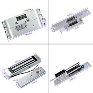 Image 4 - Sistema de Control de Acceso de puerta RFID OBO, 125KHz, huella dactilar biométrica + cerraduras electrónicas magnéticas eléctricas + fuente de alimentación DC12V