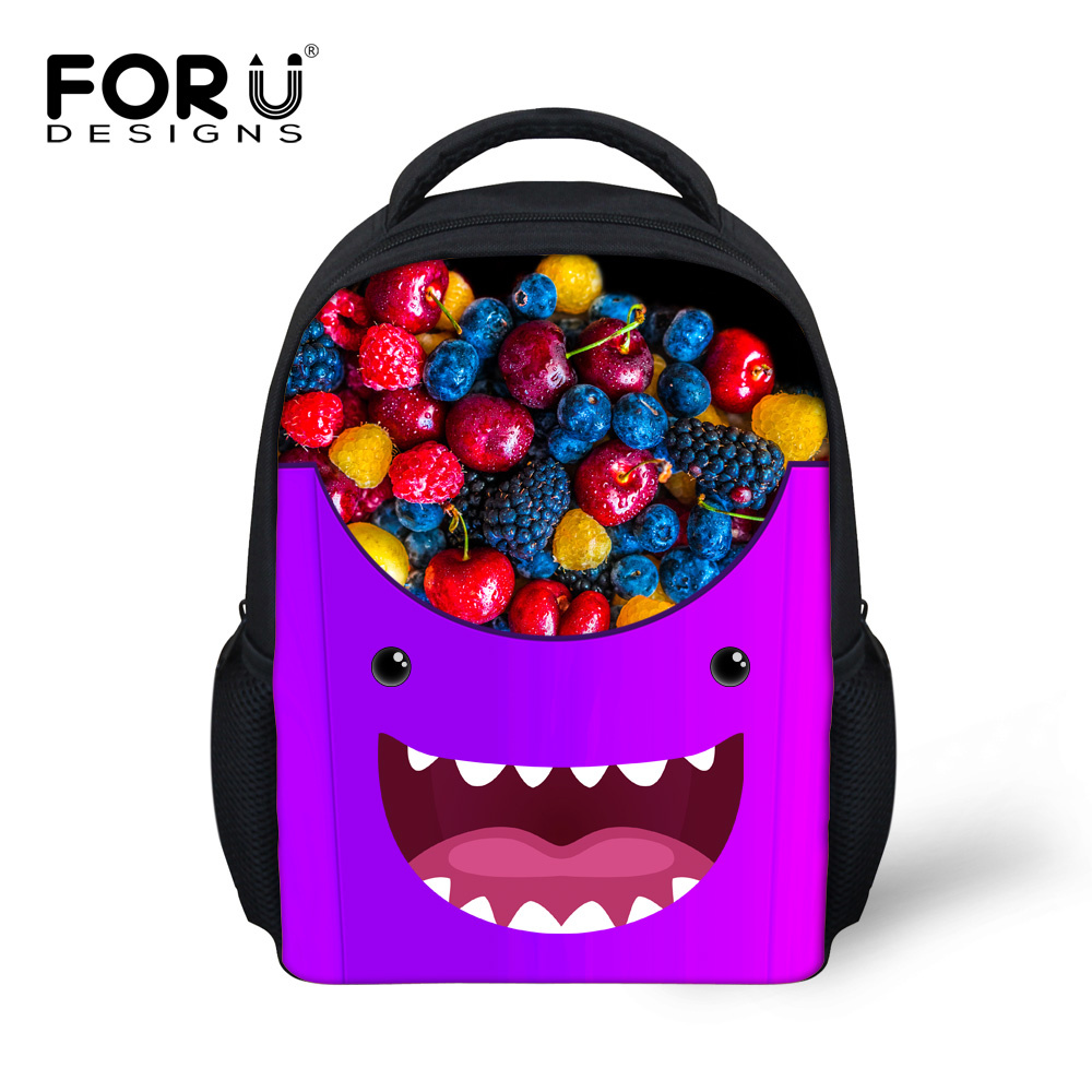School bags online cheap - 2016 Funny French Fries Design Kids Purple School Bags Children Bags For School Fashion Kids