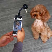 Palo de Selfie para mascotas perro gato ajuste iPhone Samsung y la mayoría de los teléfonos inteligentes Tableta Negro/blanco Envío Directo