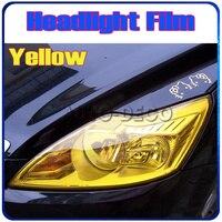 Atacado Luz Do Carro Filme Farol Auto Luz Luz Amarela Decalque Adesivo de Vinil Matiz Nevoeiro Luz FedEx Frete Grátis tamanho: 0.3*10 m