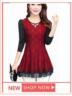 2019 Summer Top and Blouses Women Plus Size Clothes Red Green Yellow Pink Pleated Top Patchwork Lace Chiffon Peplum Top 5XL 4XL 11
