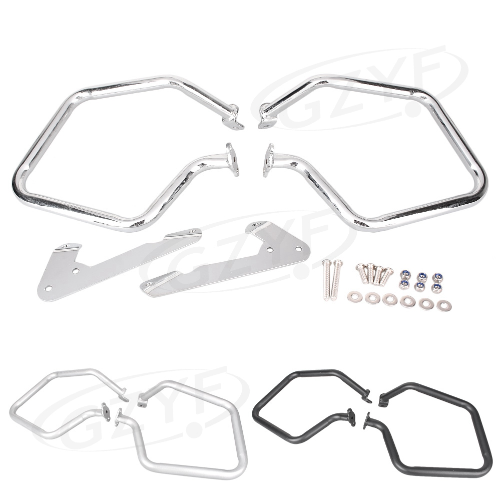 Motorcycle Rear Engine Crash Bar Trunk Guard Protector For