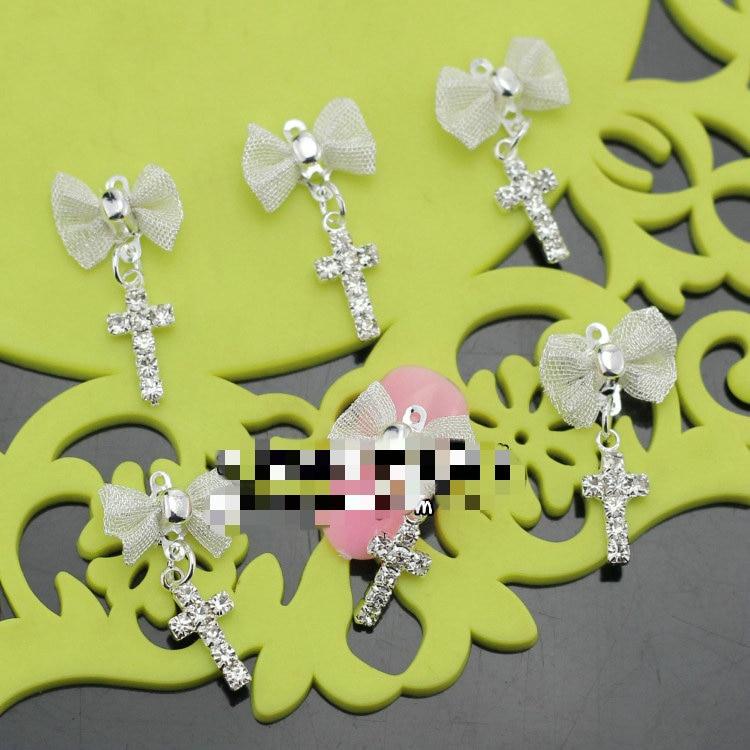 Nº1 unid aleación decoración Diamantes con piedras falsas uñas Arco ...