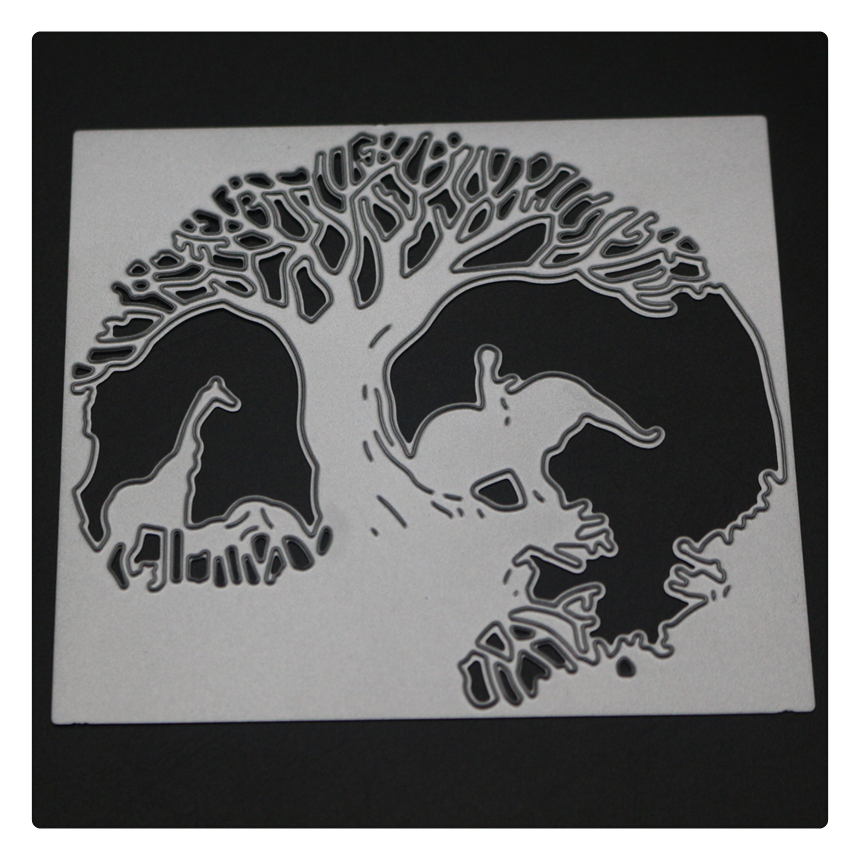 1762 Tree Animals Scrapbook Metal Cutting Dies For Scrapbooking Stencils DIY Album Cards Decoration Embossing Folder Die Cut in Cutting Dies from Home Garden