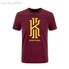 Новый Летняя мода Кирие Ирвинг Логотип мужская Тис высокое качество Футболки теплая одежда Футболки Бесплатная Доставка