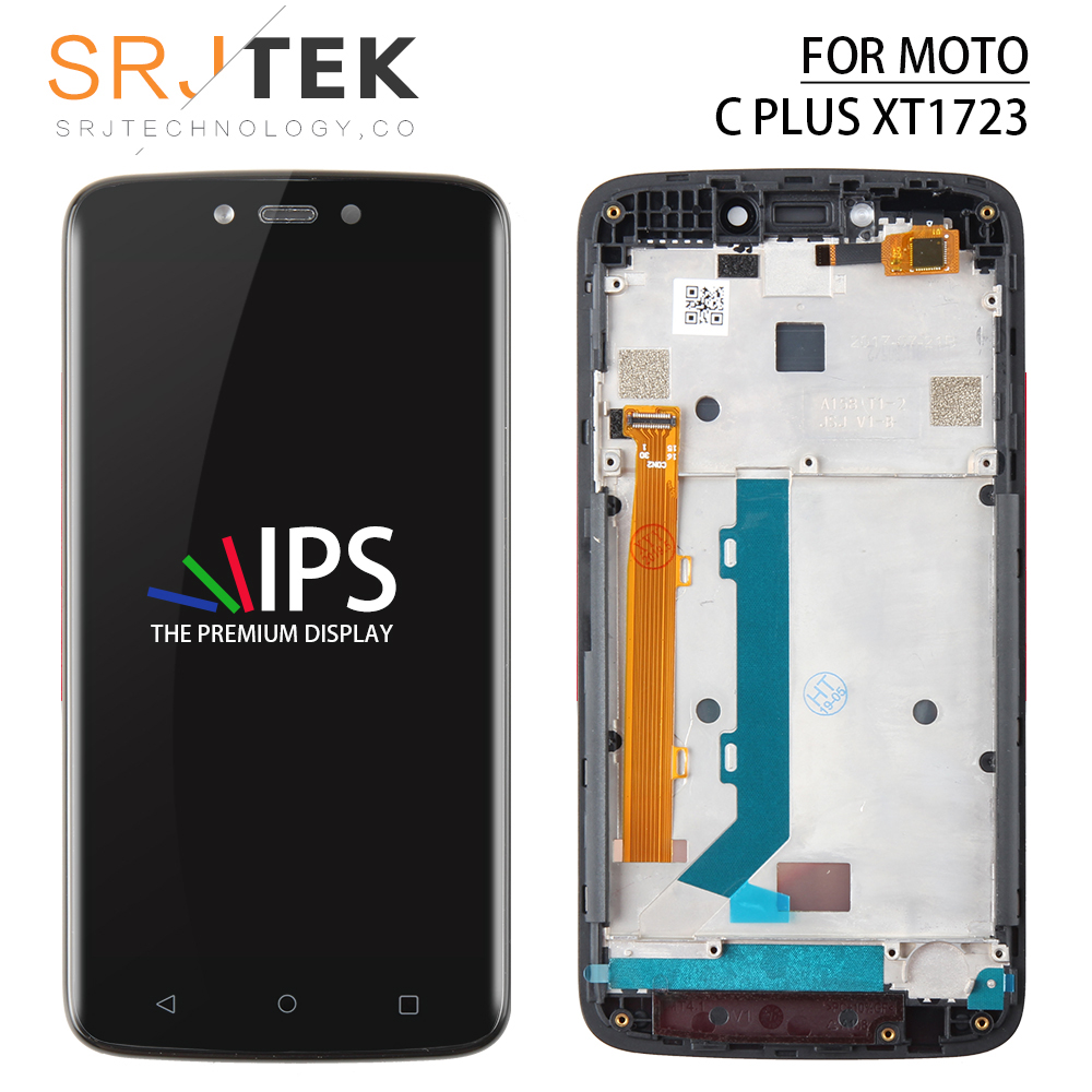 For Motorola Moto C Plus <font><b>XT1723</b></font> LCD Digitizer Sensor Glass Lens Panel CPlus XT1725 Display Touch Screen Replacement Parts Frame image