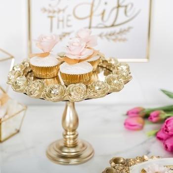 Fashion vintage cake stand tall fruit plate pallet dessert cake decorating tools jewelry box storage wedding decoration