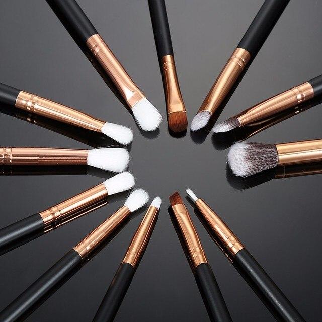 12 pcs Pro Makyaj Fırçalar Seti Pudra Fondöten Göz Farı Eyeliner Dudak Fırçası Araçları Vurgulayıcı Makyaj Fırçalar Pincel Maquiagem