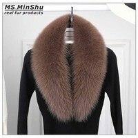 Ms. MinShu Kaldırma Için Orijinal Fox Kürk Yaka Doğal Tilki Kürk Eşarp Kadınlar Kış Fox Kürk Boyun Isıtıcı Kürk şal Toptan